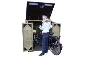 Een fietsenhok hout van ProVelo